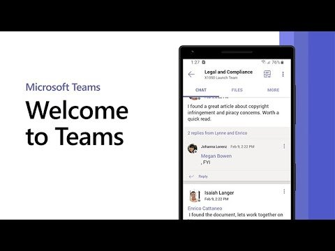 Welcome to Microsoft Teams