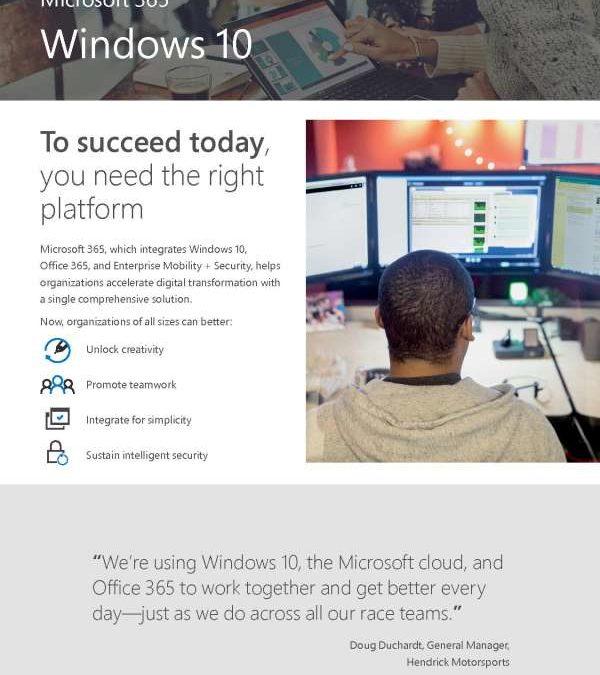 Microsoft 365 Windows 10 Flyer
