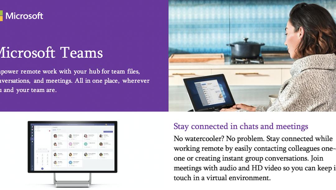 Introducing Microsoft Teams: empowering remote work